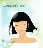 Smiling woman. Vector illustration of a smiling woman (eps 10 Royalty Free Stock Photo