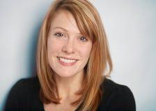 Smiling woman. Attractive smiling woman closeup portrait Stock Images