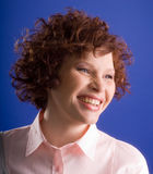 smiling woman Arkivfoto