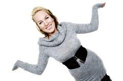 Smiling woman aks why Royalty Free Stock Photos