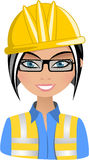 Smiling Woman Architect Stock Image