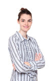 Smiling woman with arms crossed Stock Photography