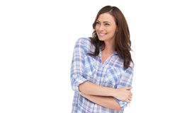Smiling woman with arms crossed Royalty Free Stock Images