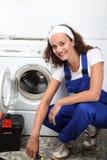 Smiling woman artisan Royalty Free Stock Image