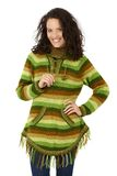 Smiling woman in autumn jumper Royalty Free Stock Photos