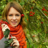 Smiling woman - autumn Stock Photography
