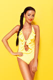 Smiling Woman In Bathing Costume Stock Photography