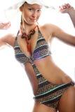 Smiling woman with a bikini Stock Photo