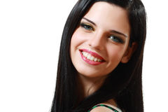 Smiling woman brunette Stock Images