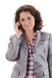 Smiling Woman is calling Royalty Free Stock Image