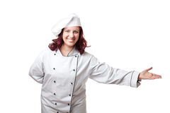Smiling woman chef Royalty Free Stock Photography