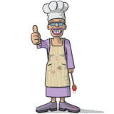 Smiling woman chef with thumb up Royalty Free Stock Photo