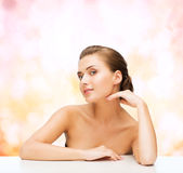 Smiling woman with clean perfect skin Royalty Free Stock Photos