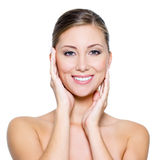Smiling woman with clean skin Royalty Free Stock Photo