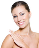 Smiling woman with clean skin Stock Photography