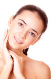 Smiling woman with clean skin Royalty Free Stock Image