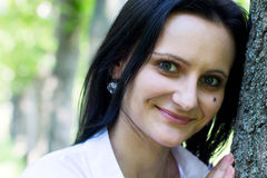 Smiling woman, close-up Royalty Free Stock Images