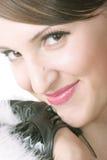 Smiling woman closeup photo Stock Photography
