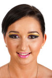 Smiling woman with colorful make up Stock Image