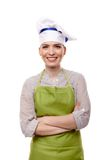 Smiling woman cook with arms folded Royalty Free Stock Image