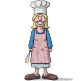 Smiling woman cook Royalty Free Stock Photos
