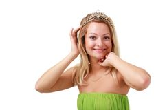 Smiling woman with diadem Stock Photography