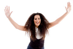 Smiling woman doing dance Royalty Free Stock Photo