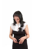 Smiling woman in a dress Stock Photos