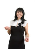 Smiling woman in a dress Stock Photo