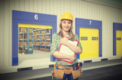 Smiling woman on duty Royalty Free Stock Photos
