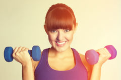 Smiling Woman Exercising Royalty Free Stock Photo