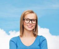 Smiling woman in eyeglasses Stock Photo