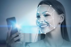 Free Smiling Woman Face Recognition In Office Stock Images - 140730874