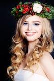 Smiling Woman Fashion Model Stock Image