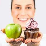 Apple or cupcake stock photo