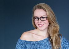 Smiling woman with glasses Royalty Free Stock Photography