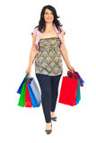 Smiling woman going to shopping Stock Image