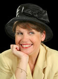 Smiling Woman In Hat Stock Image