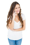 Smiling woman having a phone call Royalty Free Stock Photo