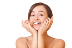 Smiling woman with healthy skin Royalty Free Stock Photo