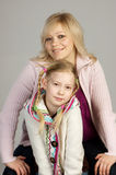 Smiling woman with her daughter Royalty Free Stock Photos