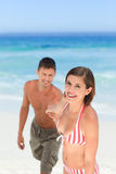 Smiling woman with her husband Stock Image