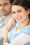 Smiling woman with her partner Stock Photo