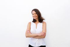 Smiling woman in her 30s Royalty Free Stock Photo