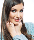 Smiling woman.Isolated portrait. Royalty Free Stock Photos