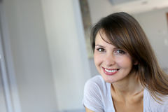 Smiling woman with long hair Royalty Free Stock Photo