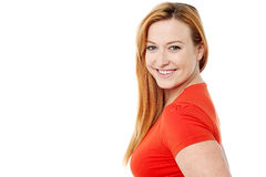 Smiling woman looking at camera Stock Image