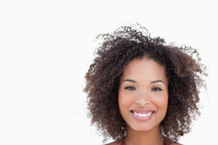 Smiling woman looking straight at the camera Royalty Free Stock Photos