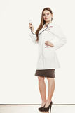 Smiling woman medical doctor with stethoscope. Stock Images