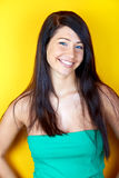 Smiling woman model Royalty Free Stock Photos